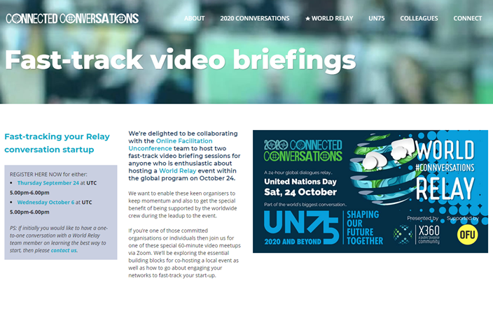 X360 fast-track video briefing sessions